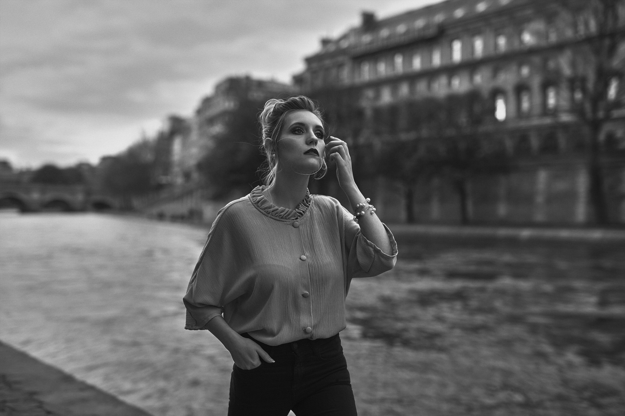 Portraits an der Seine in Paris