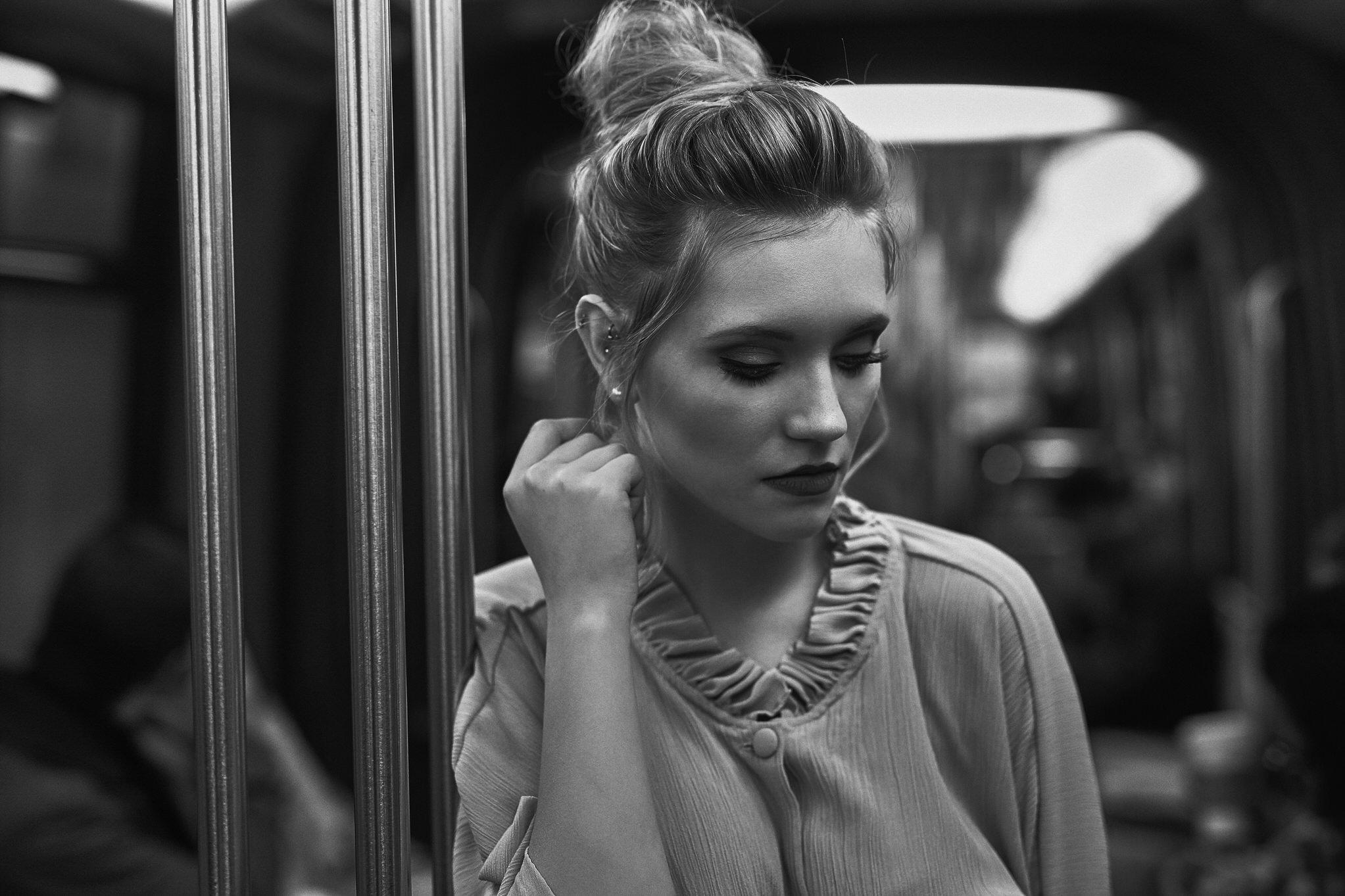 Portraits in der Metro in Paris